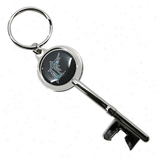 Florida Marlins Key Bpttle Opener Keychain