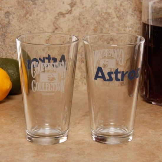 Houston Astros 2-pack 16oz. Cooperstown Glasses