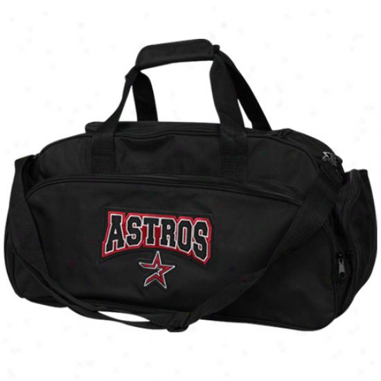 Houston Astros Black Domestic Duffel Bag