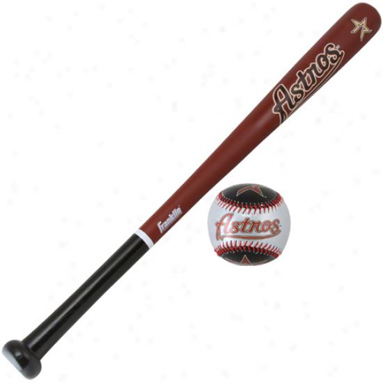 Houston Astros Wood Bat & Soft Striks Baseball eSt