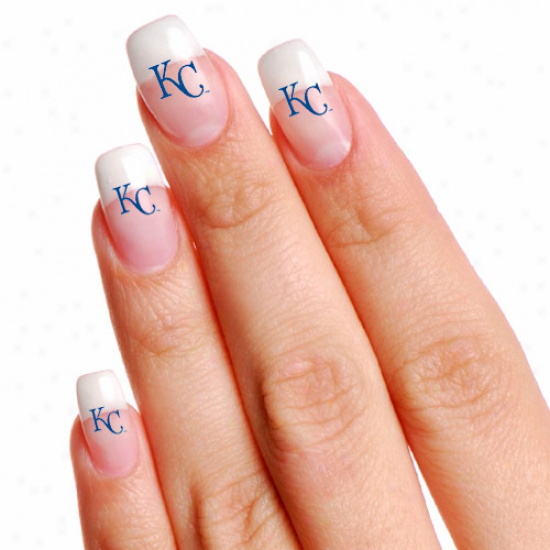Kansas City Royals 4-pack Temporary Nail Tattoos