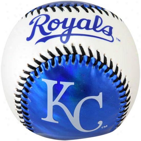 Kansas City Royals Metallic Gentle Strike Baseball