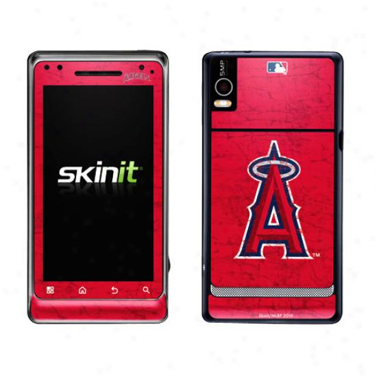 Los Angeles Angels Of Anaheim Red Drojd 2 Distressed Skin