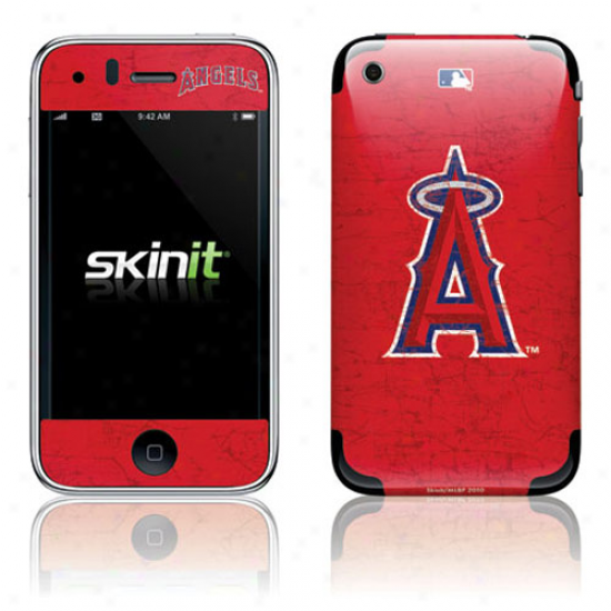 Los Anegles Angels Of Anaheim Red Iphone 3g/3gs Distressed Skin