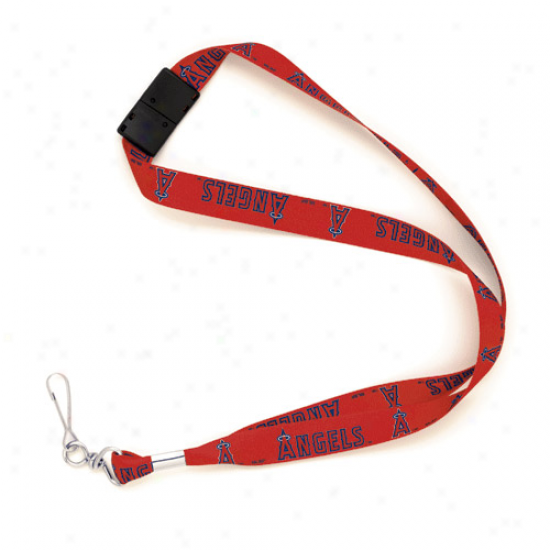 Los Angeles Angels Of Anaheim Red Mlb Event Lanyard