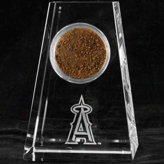 Los Angelew Angels Of Anaheim Tapered Crysta lGame-used Dirt Paperweight