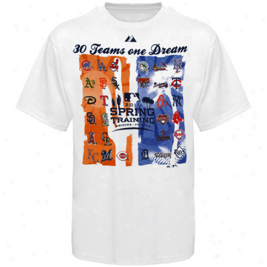 Majestic 2011 Spring Training White 30 Dreams T-shirt