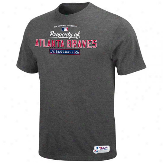 Majestic Atlanta Braves Charcoal Property Of T-shirt
