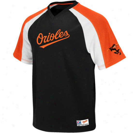 Majestic Baltimore Orioles Crusader Pullover Jersey - Black