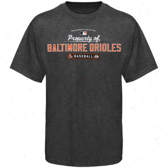 Elevated Baltimore Orioles Youth Charcoal Quality Of-T-shirt