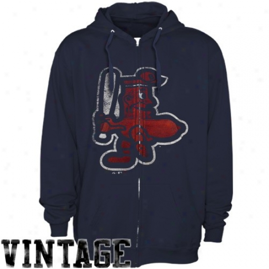 Majestic Boston Red Sox Navy Blue Built Tough Cooperstown Full Zip Hody