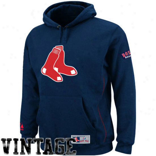 Majestic Boston Red Sox Youth Navy Blue Be Proud Pullover Hoodie Sweatshirt