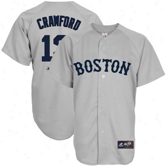 Majestic Carl Crawford Boston Red Sox Replica Jerzey - Gray