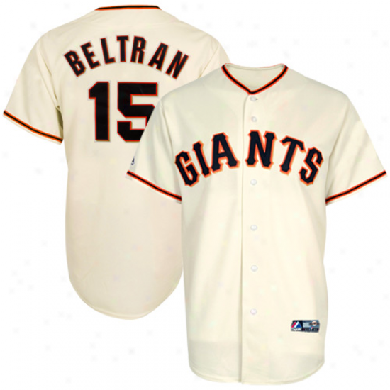 Majestic Carlos Beltran San Francisco Giants Replica Jersey - Cream