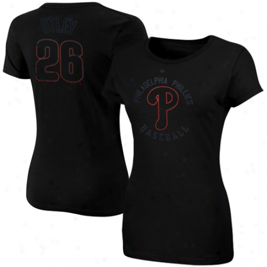 Majestic Chase Utley Philadelphia Phillies #26 Red, White & Blue Performer Hwathered T-shirt - Red