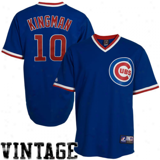 Majestic Dave Kingman Chicago Cubs Replica Cooperstown Throwback Jersey - Royal Blue