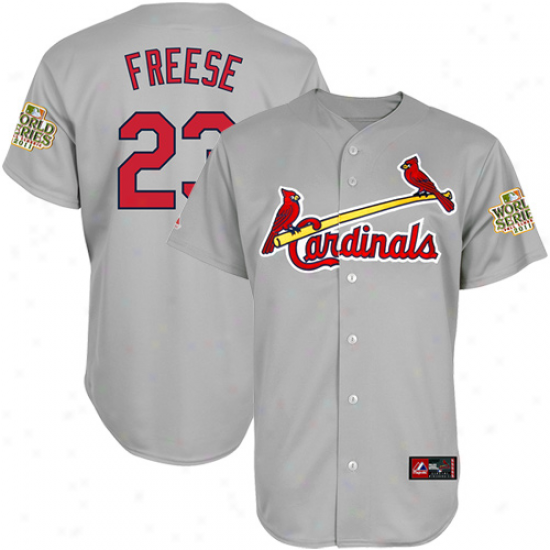 Majesttic David Freese St. Louis Cardinals 2011 World Series Champions Absent Replica Jersey - Gray