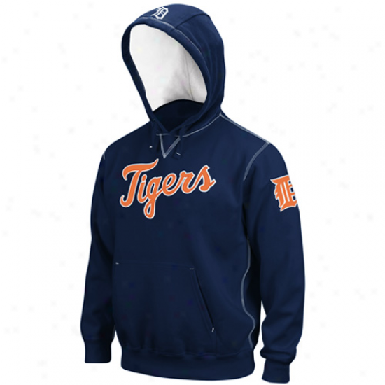 Majestic Detroit Tigers Navy Blue Golden Child Pullover Hoody Sweatshirt