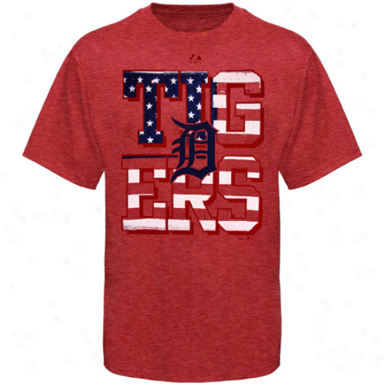 Majestic Detroit Tigers Star Spangled T-shirt - Red