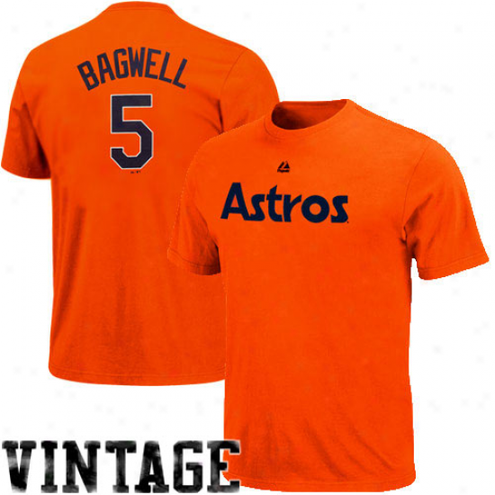 Majestic Jeff Bagwell Houston Astros #5 Cooperstown Player T-shirt -O range