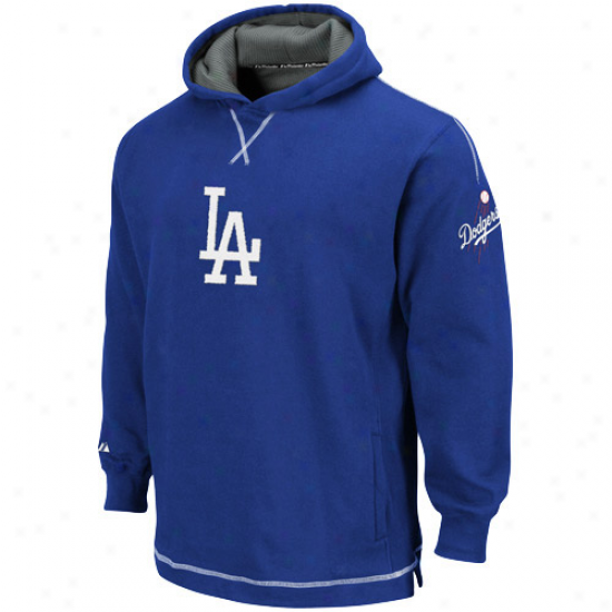 Majestic L.a. Dodgers Youth Royal Blue The Liberation Pullover Hoody Sweatshirt