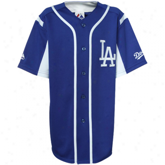 Majestic L.a. Dodgers Youth Wknd-up Jersey - Royal Blue