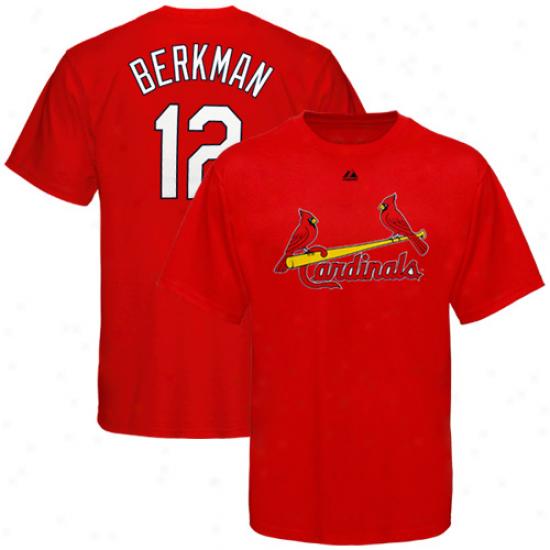 Majestic Lance Berkman St. Louis Cardinals #12 Player T-shirt - Red