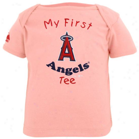 Majsstic Los Angeles Angels Of Anaheim Infant Girls Pink My First Tee T-shirt