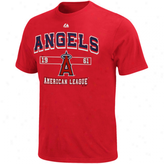 Majestic Los Angeles Angels Of Anaheim Past Time Original T-shirt - Red