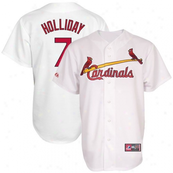 August Matt Holliday St. Louis Cardinals Replica Jersey-gray