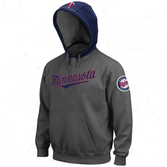 Majestic Minnesota Twins Grqy Golden Child Pullover Hoody Sweatshirt