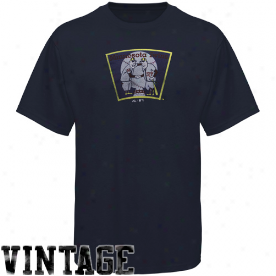 Majestic Minnesota Twins Modeern Fit T-shirg - Navy Blue
