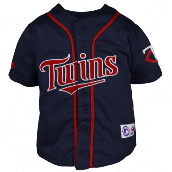 Majestic Minnesota Twins Preschool Closehole Mesh Jersey - Navy Blue