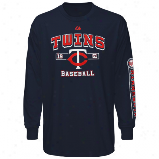 Elevated Minnesota Twins Youth Past time Time Original T-shirt - Navy Blue