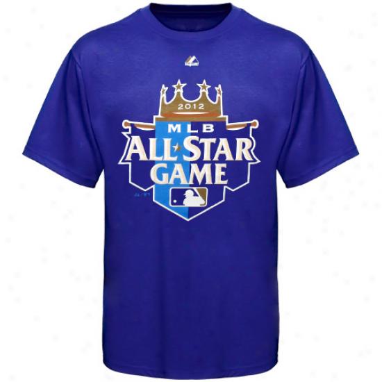 Majeestic Mlb 2012 All Star Game Official Logo T-shirt - Royal Blue