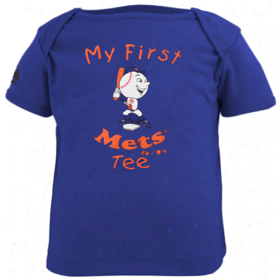 Majestic New York Meta Infsnt My First Tee T-shirt - Royal Blue-