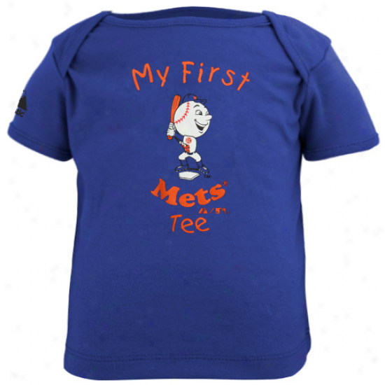Majestic New York Mets Infant My First Tee T-shirt - Royal Blue