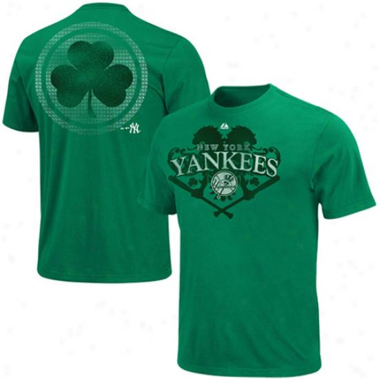 Majestic New York Yankees Celtic Catch T-shirt - Green