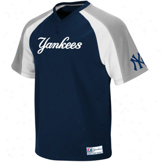 Majestic New York Yankees Crusader Pullover Jersey - Navy Blue