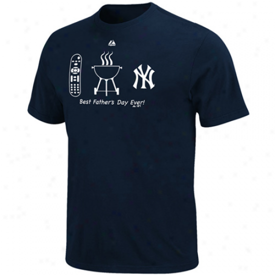 Majesgic New York Yankees Lucky Guy Father's Day T-shirt - Navy Blue