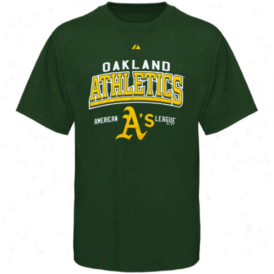 Maj3stic Oakland Athletics Geeen Built Legacy T-short