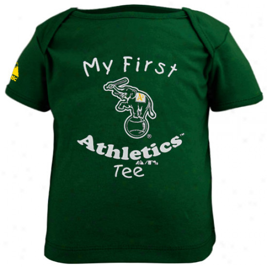 Majestic Oakland Athletics Babe My First Tee T-shirt - Green