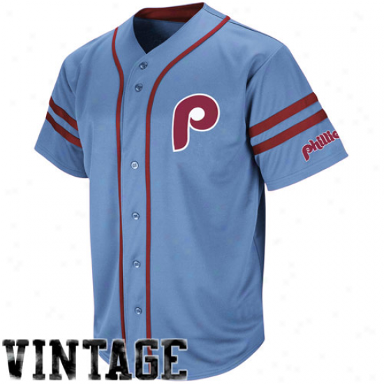 Majestic Philadelphia Phillies Cooperstown Throwback Replica Jersey - White Pinstripe