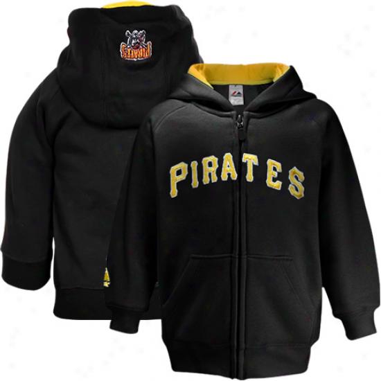 Elevated Pittsburgh Pirates Newborn Black Full Zip Hoodie Sweatshirt