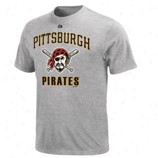 Majestic Pitteburgh Pirates Performance Fan T-shirt - Ash