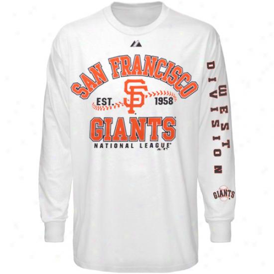 Majestic San Francisco Giants Dial It Up Long Sleeve T-shitr - White