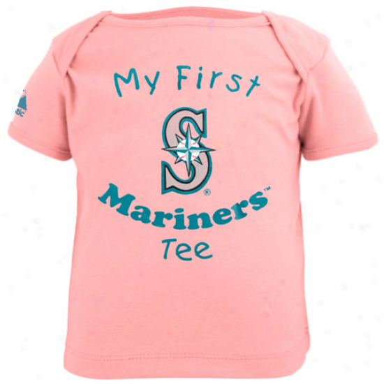 Manestic Seattle Mariners Babe Girls Pink My First Tee T-shirt
