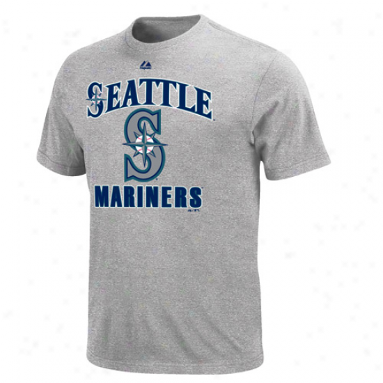 Majestic Seattle Mariners Performance Fan T-shirt - Ash
