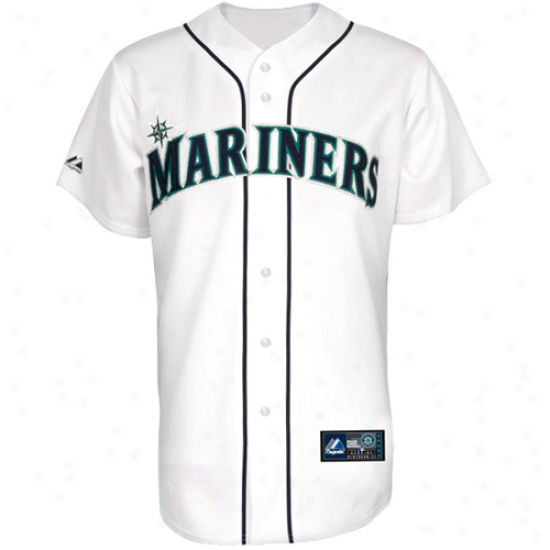 Majedtic Seattle Mariners Youth Replica Jersey - White