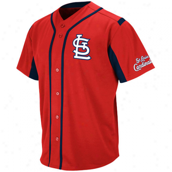 Majestic St. Louis Cardinals Wind-up Jersey - Red